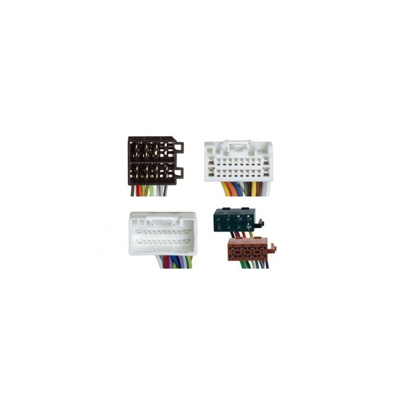 Conjunto conectores ISO-OEM Mitsubishi, Peugeot, Citröen