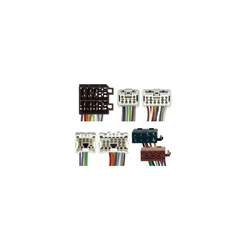 Conjunto conectores ISO-OEM Nissan, Infiniti