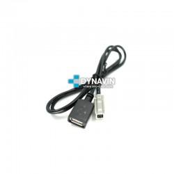 CONECTOR USB 80cm - INTERFACE USB ADD PARA TOYOTA, MAZDA, SUBARU, LEXUS...