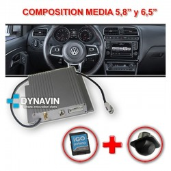 "NUEVO INTERFACE DYNAVIN N6 VAG GROUP PARA 5,8"" Y 6,5"" COMPOSITION MEDIA - VOLKSWAGEN, SEAT Y SKODA"