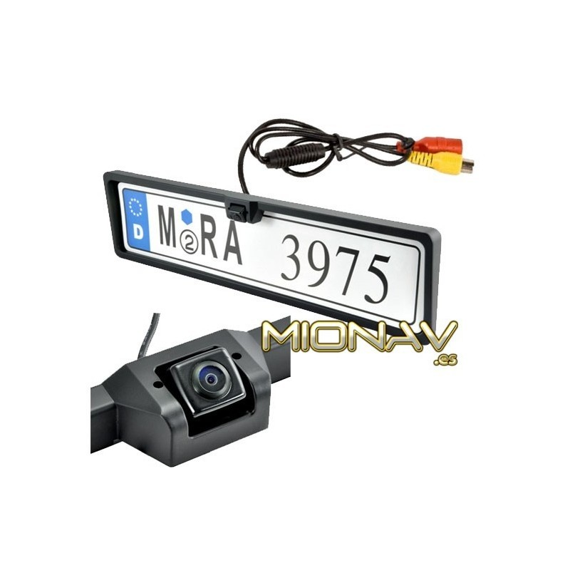 C/ámara de visi/ón Trasera a Color integrada en la iluminaci/ón de la matr/ícula LED para la iluminaci/ón de la matr/ícula con l/íneas de Distancia para Toyota Avensis T25 T27 Corolla//Vios.