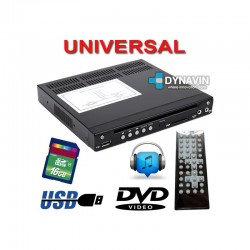 DVD BOX, CD, DVD, USB, SD, AUX DE TAMAÑO MINI UNIVERSAL: MEDIO DIN