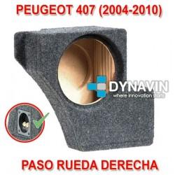 PEUGEOT 407 (2004-2010) - CAJA ACUSTICA PARA SUBWOOFER ESPECÍFICA PARA HUECO EN EL MALETERO